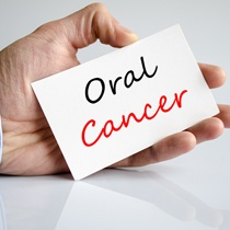 "A sign that reads, ""Oral Cancer"""